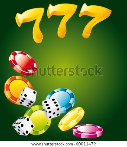 Lucky casino elements. Vector background.