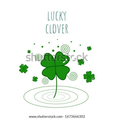 lucky clover in spring lucky