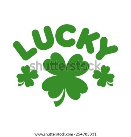 lucky clover vector graphic