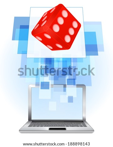 lucky dice in laptop internet