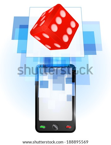 lucky dice in mobile phone