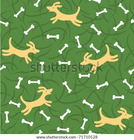 lucky dogs with bones seamless background