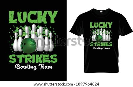 Lucky Strikes St Patrick's Day T Shirt Design