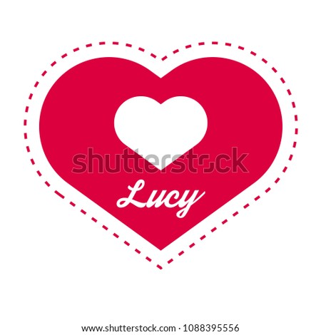 lucy woman name with heart