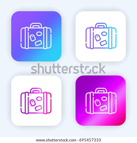 Luggage bright purple and blue gradient app icon