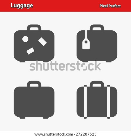Luggage Icons. Professional, pixel perfect icons optimized for both large and small resolutions. EPS 8 format.