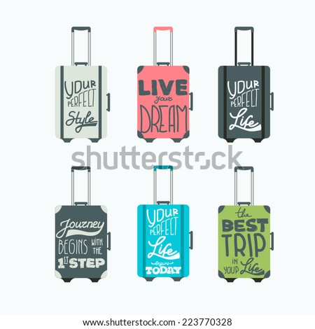 luggage icons. vector set