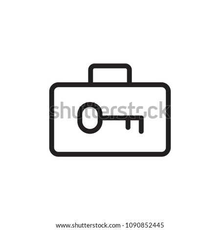 luggage security, locked luggage outline vector icon. Modern simple isolated sign. Pixel perfect vector illustration for logo, website, mobile app and other designs