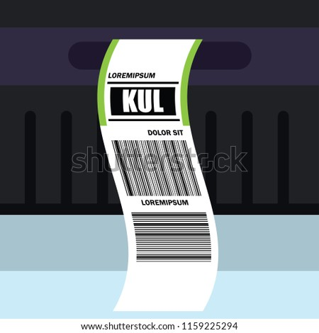 luggage tag label on suitcase