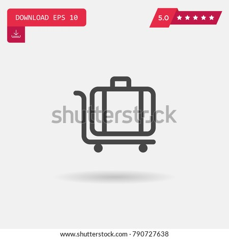 Luggage vector icon. Emblem isolated on white background. Modern simple icon style for graphic and web design, logo. EPS10