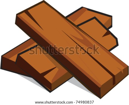 Lumber batch cartoon vector illustration