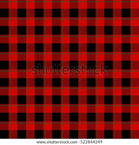 lumberjack pattern  in red