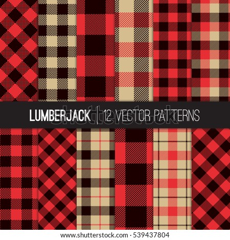 lumberjack patterns  red