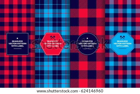 lumberjack seamless patterns