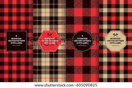 lumberjack seamless patterns