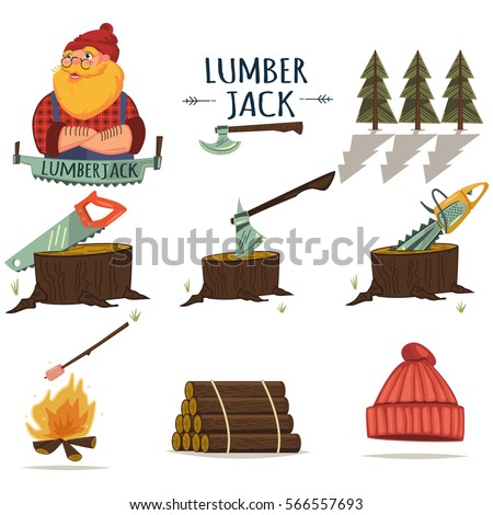 Vector Images Illustrations And Cliparts Lumberjack Timber And