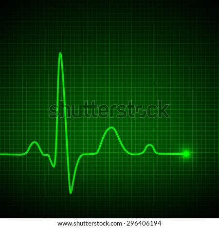 Luminous pulse graphic. Vector illustration.
