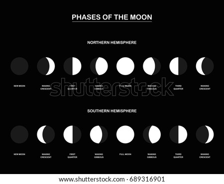 lunar phases   chart with the