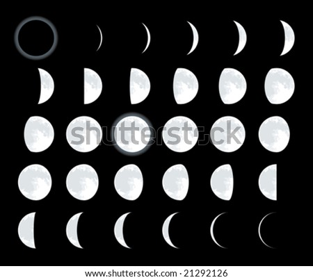 lunar phases cmyk mode global
