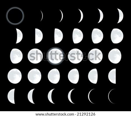 lunar phases cmyk mode global