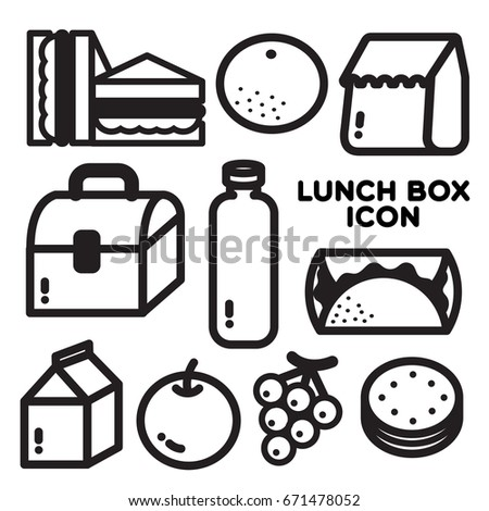 LUNCH BOX ICON Popular menu and items for lunch are generated as an icon.