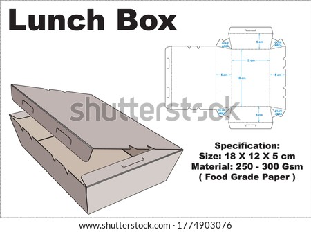 lunch box that is simple but with a charming shape.  vector layout