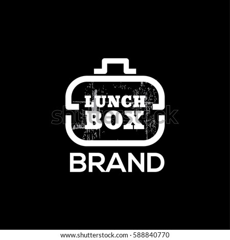 Lunch delivery vector log design template. Lunch box icon
