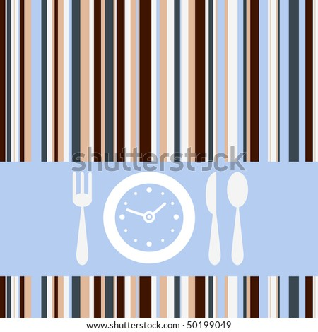 Lunch time - stock vector