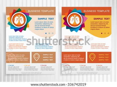 Asthma Flyer Template Download Free Vector Art Stock Graphics - Asthma brochure template