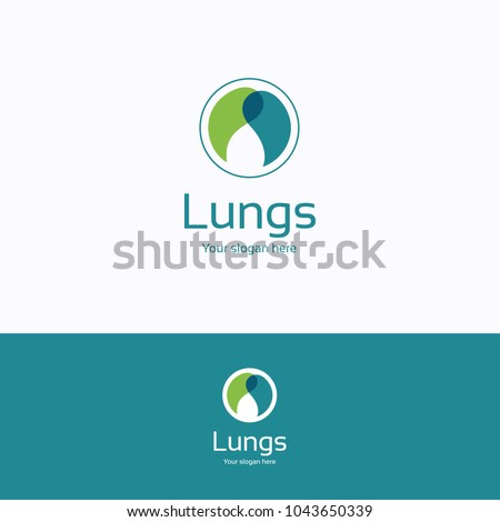 lungs logo healthy blue green
