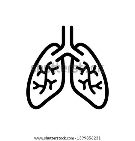 Lungs Vector Icon Design Template Foto stock ©
