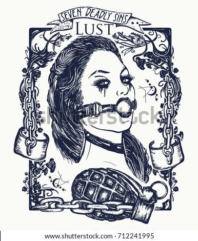 lust seven deadly sins tattoo