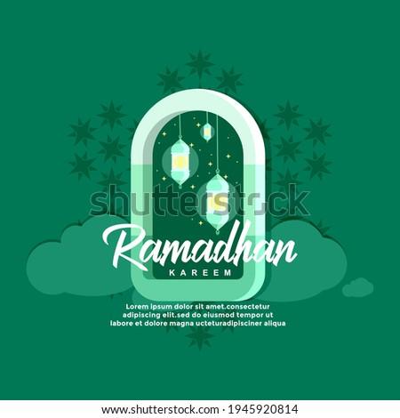 lustrasi perayaan bulan suci Islam Ramadhan. dengan tipografi ramadhan kareem dalam Template Logo Identitas dan Vektor Konsep Logo Ramadhan