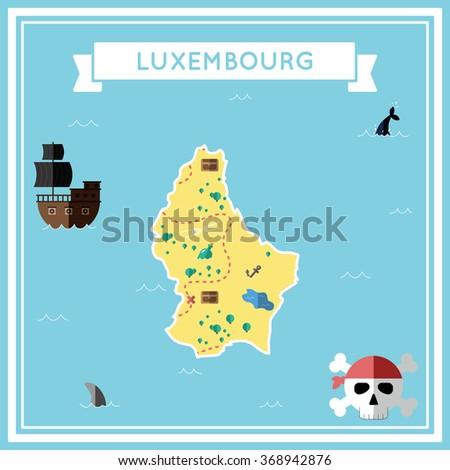 luxembourg flat treasure map