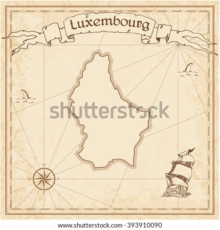 luxembourg old treasure map