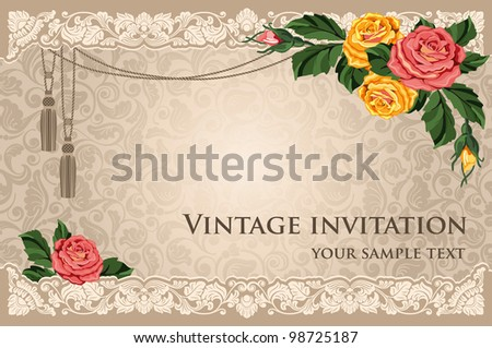 Luxurious background in vintage style