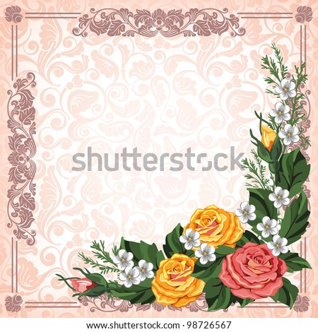 Luxurious background in vintage style - stock vector