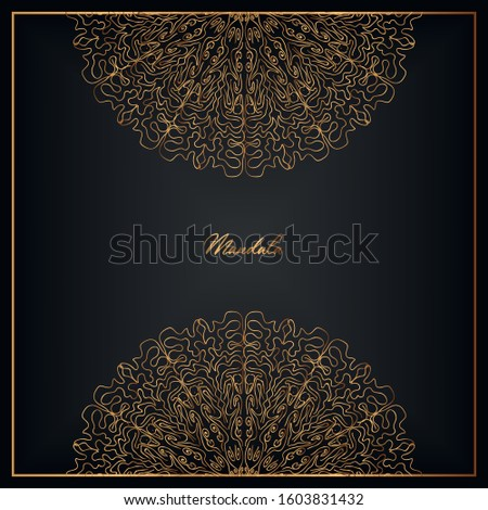 Luxurious background with a luxurious golden mandala