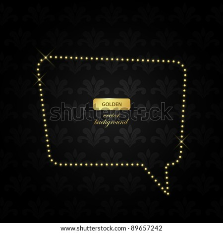 luxurious golden retro background