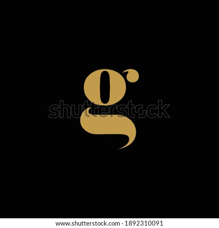 luxurious looking letter g logo in gold color Stok fotoğraf ©