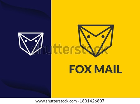 luxury and elegant fox head. logo design concept for technology, Mail service. information and business company