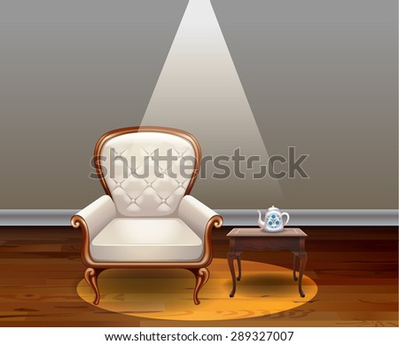 luxury armchair and vintage