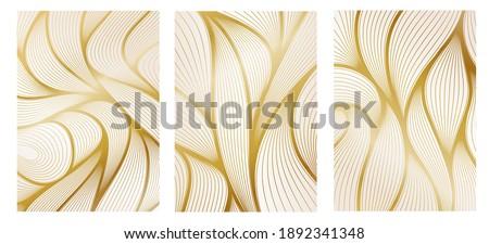 luxury art deco background graphics design for posters. flowing shapes design art deco wallpaper. golden lines abstract creative geometric art nouveau background. vector illustration