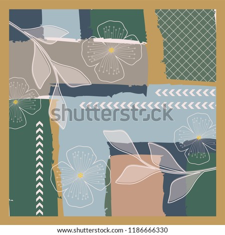 luxury art pattern for scarf design