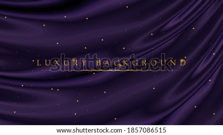 Luxury Background Template. Luxury Dark Purple with Golden Glitter Sparkles For Your Business Project. Brochure, Cover, Poster, Banner, Awarding Ceremony, Wedding party or Event Celebration Сток-фото ©