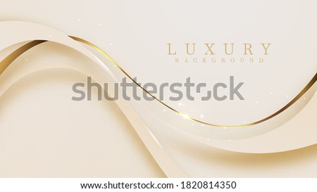 Luxury background With golden lines And the light sparkles Mustard color in 3d abstract style, illustration from vector deluxe template modern design. Stock photo ©