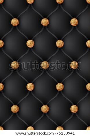 Luxury black leather vector background