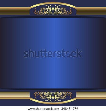 luxury blue background with