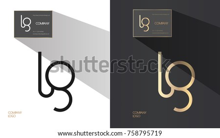 Luxury brand line logo with L and G letters combination. Classic style branding templates. Business cards and included.