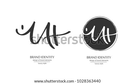 Stock Vector Luxury Brand Line Logo With Uppercase